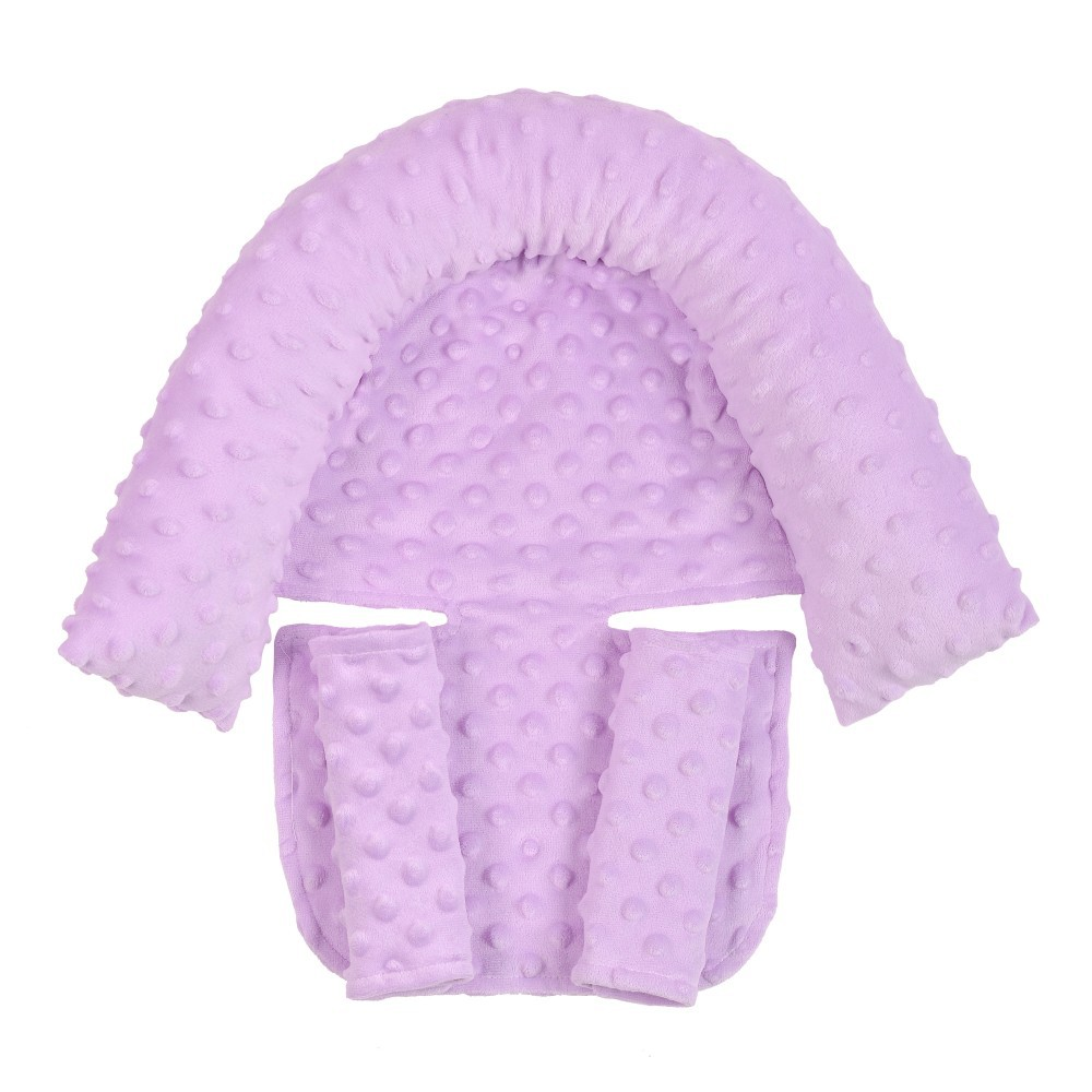 2Pcs/Set Baby Safety Seat Headrest + Safety Belt Cover Set for Infants Light purple