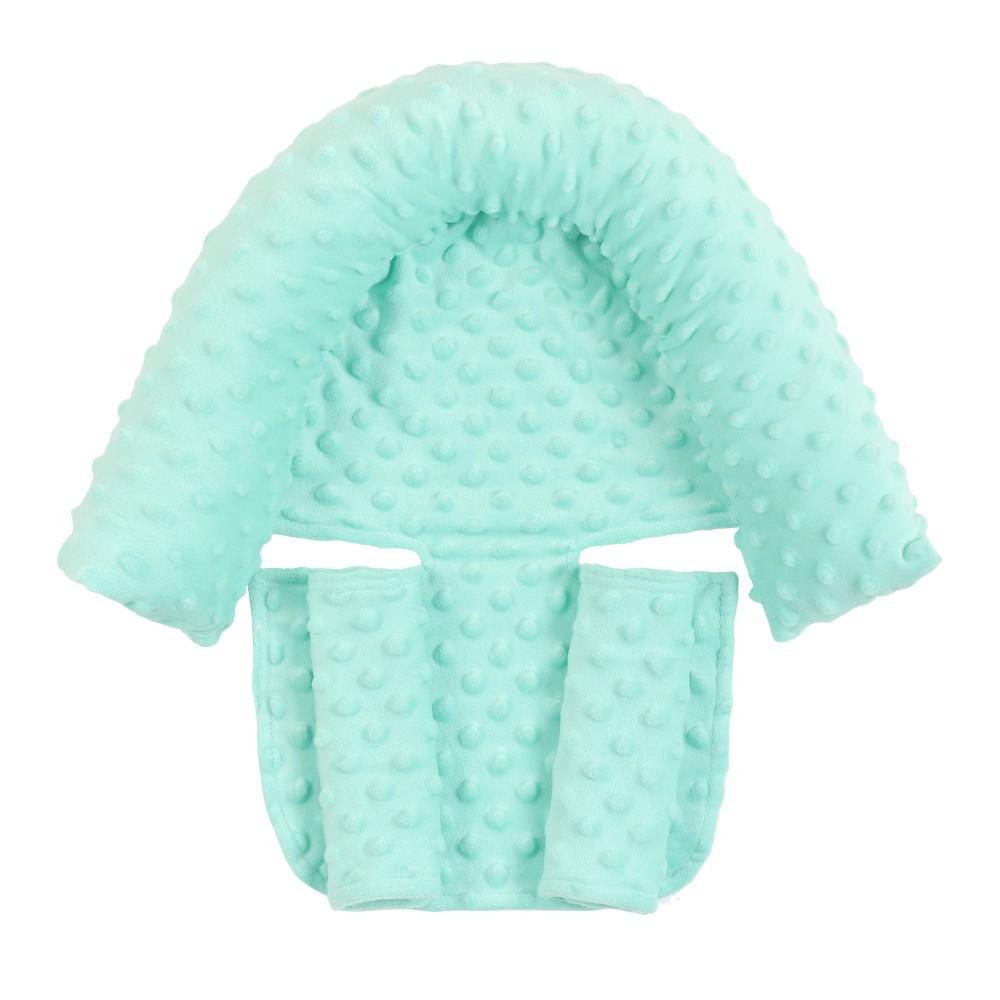 2Pcs/Set Baby Safety Seat Headrest + Safety Belt Cover Set for Infants Mint Green