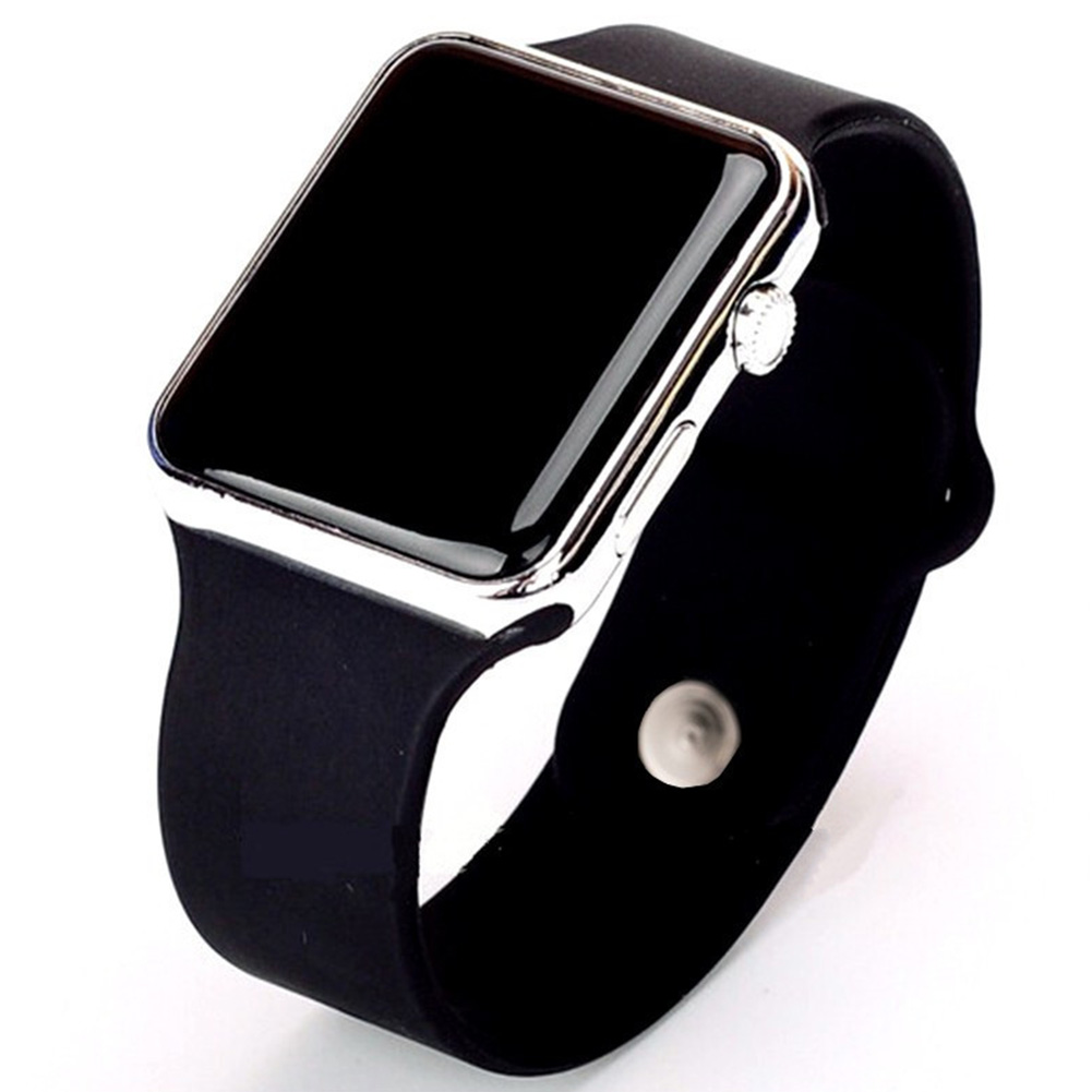 LED Square Casual Digital Watch with Rubber Band Sports Wrist Watches for Man Woman (colors optional) 9#