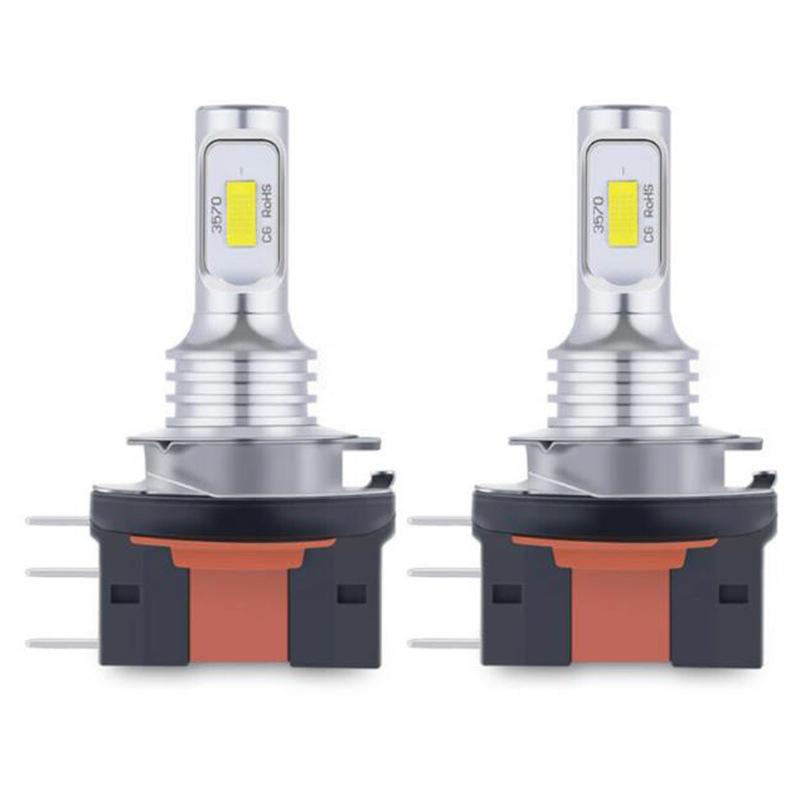 1 Pair H15 Led Fog  Lamp  Kit 3570 Csp 6000k Led White Light Car Accessories White light