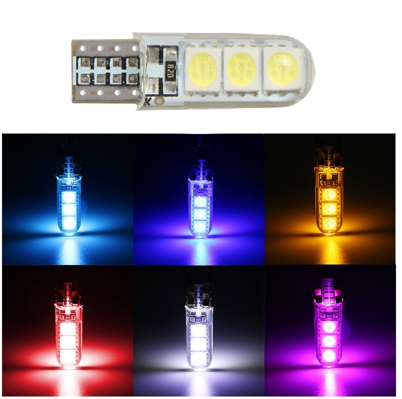 T10 W5W 5050 6SMD Led Car Lights Led Bulbs Led Lamp Reading Lights White 12v Red light