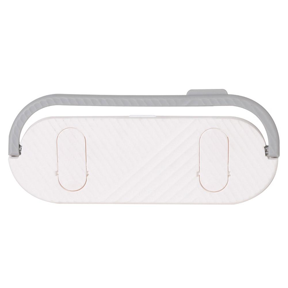 Multifunctional Bathroom Slippers Rack Free Punching Wall Drain Rack for Bathroom Kitchen Towel Hanging white
