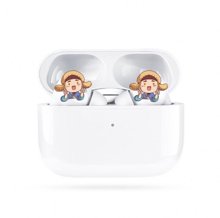 Macaron Third-generation Bluetooth Headset Wireless  Earbuds Earphones white