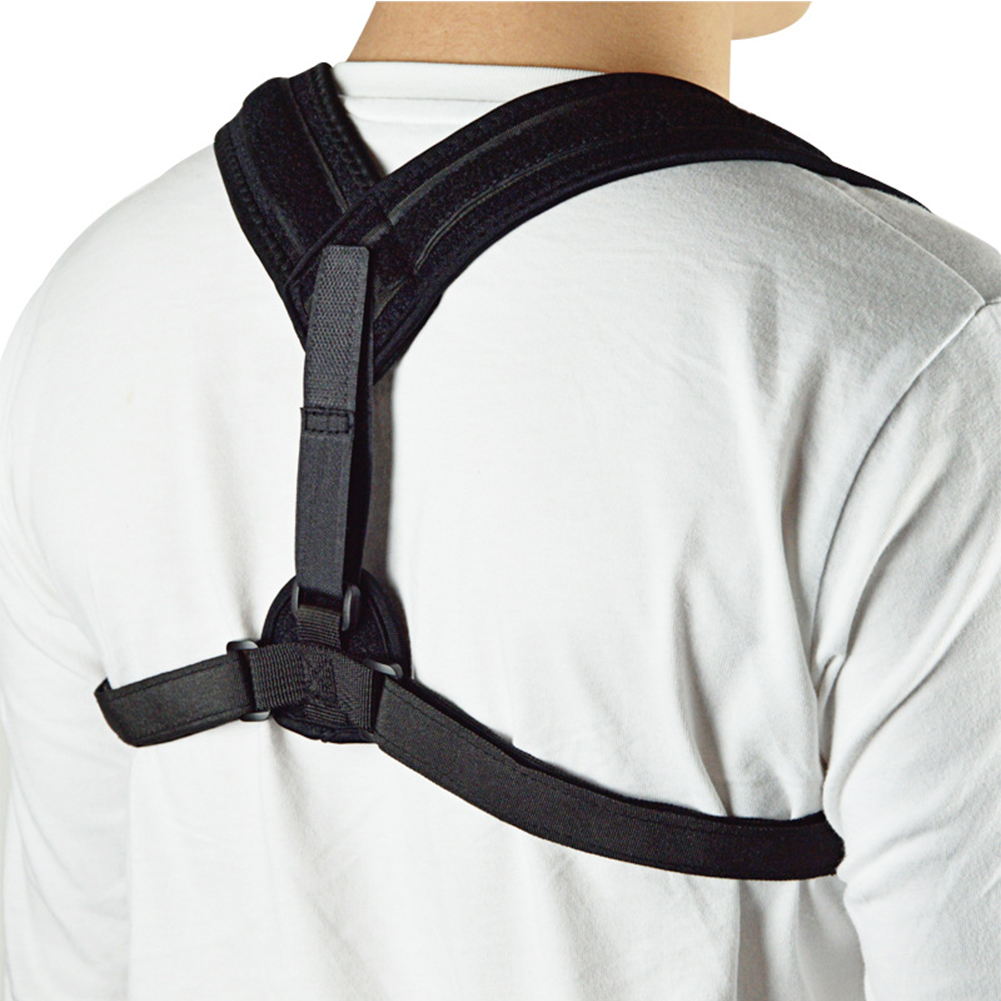Adjustable Posture Corrector Upper Back Support Brace Corset Clavicle Correction Belt for Women and Men black_Free size