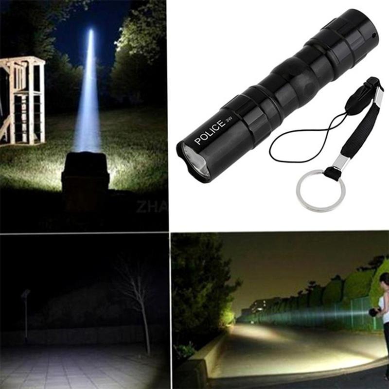3W Waterproof Mini Flashlight LED Lamp for Daily Travel Portable Lighting Equipment black