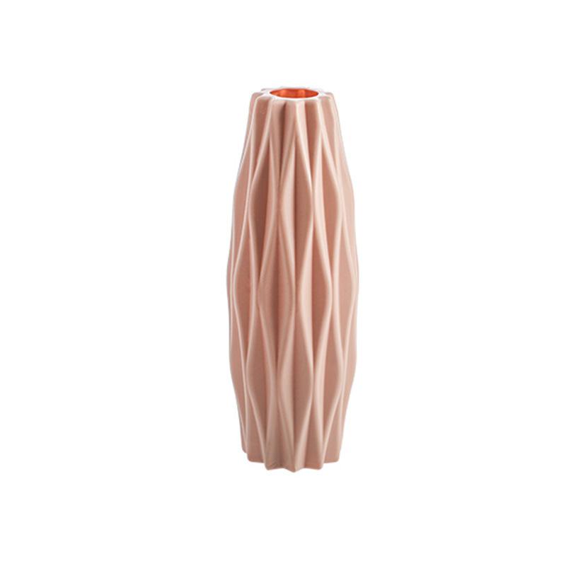 Anti-falling  Vase Flower Holder Bottle Household Decorative Ornament 3219 diamond pink_As shown