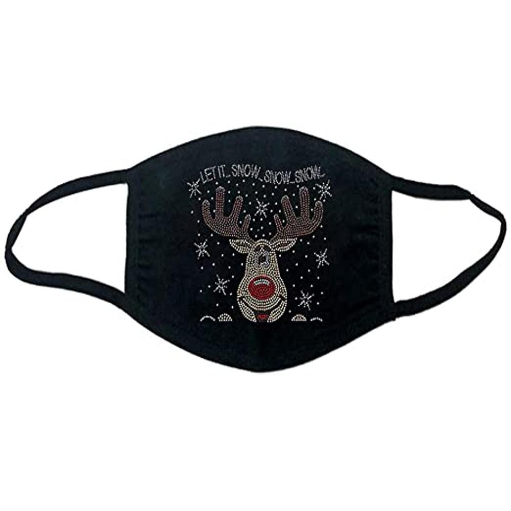 Cotton Mask Dustproof Washable Adult  Christmas Cloth Mask 1#_Adult