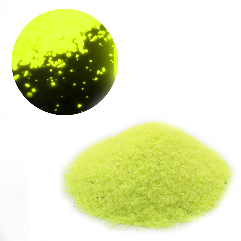 50g Luminous Sand Glow in The Dark Party DIY Bright Paint Star Wishing Bottle Fluorescent Particles Toy yellow