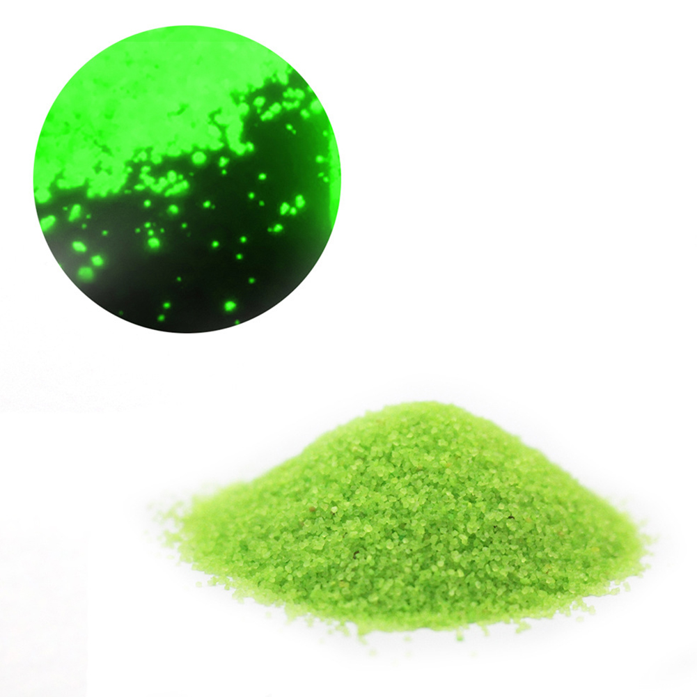 50g Luminous Sand Glow in The Dark Party DIY Bright Paint Star Wishing Bottle Fluorescent Particles Toy yellow-green