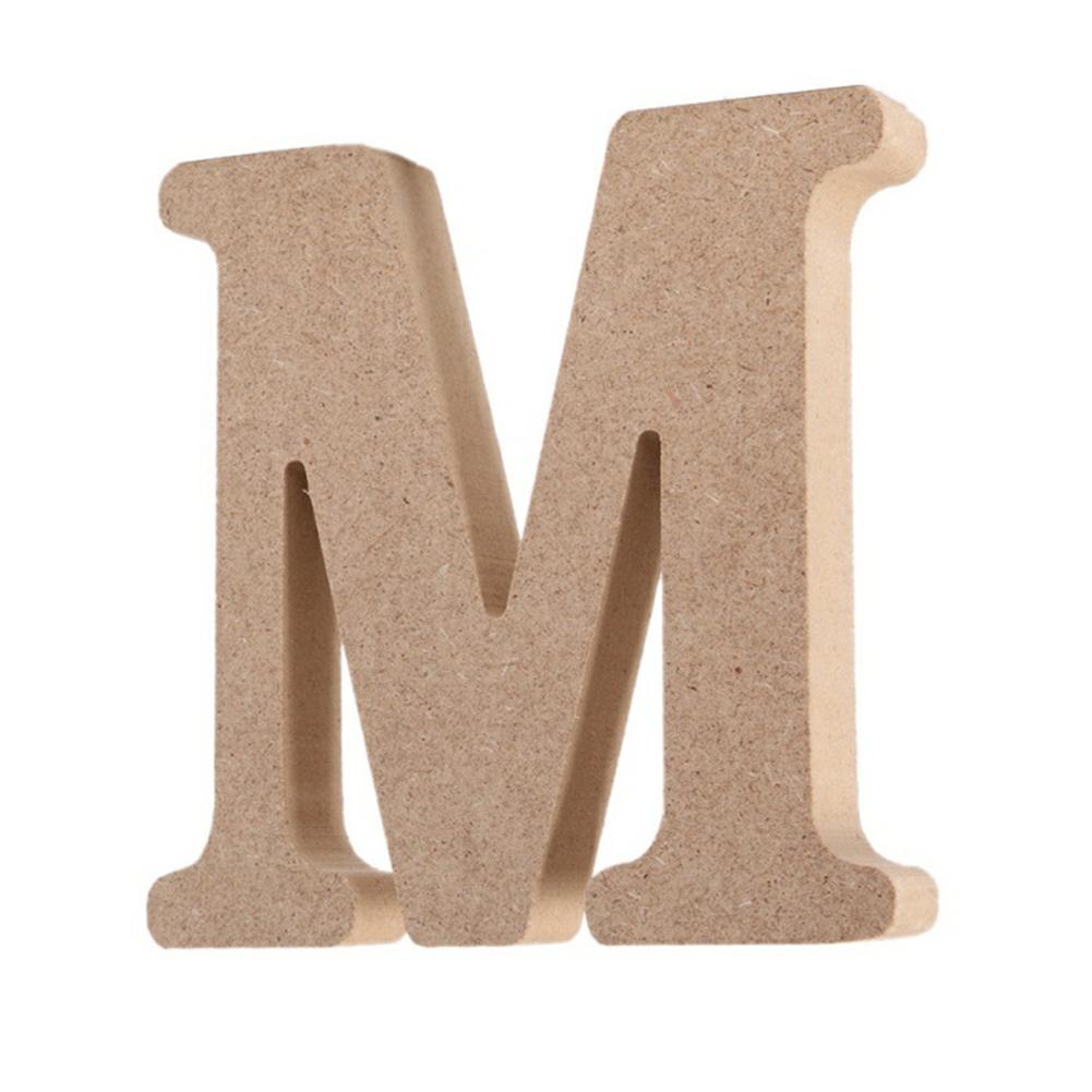 1.5CM Thick Wooden Letters Diy Wedding Handicrafts Home Decoration