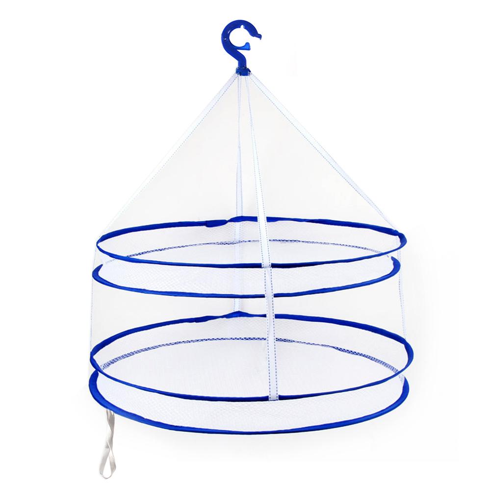 [EU Direct] Foldable Drying Racks Hanging Clothes Laundry Net Mesh Basket Dryer Net for Underwears Lingerie Woollen Sweater Baby Garments Plush Toys