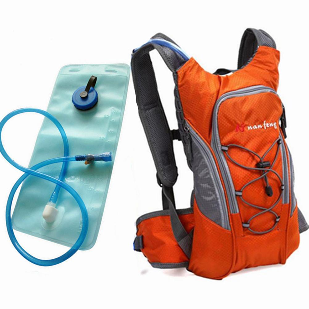 Riding Water Bag Backpack Bicycle 5L Sports Outdoor Riding Bag Cilmbing Travel Shoulders Bag 2 liter water bag + backpack orange