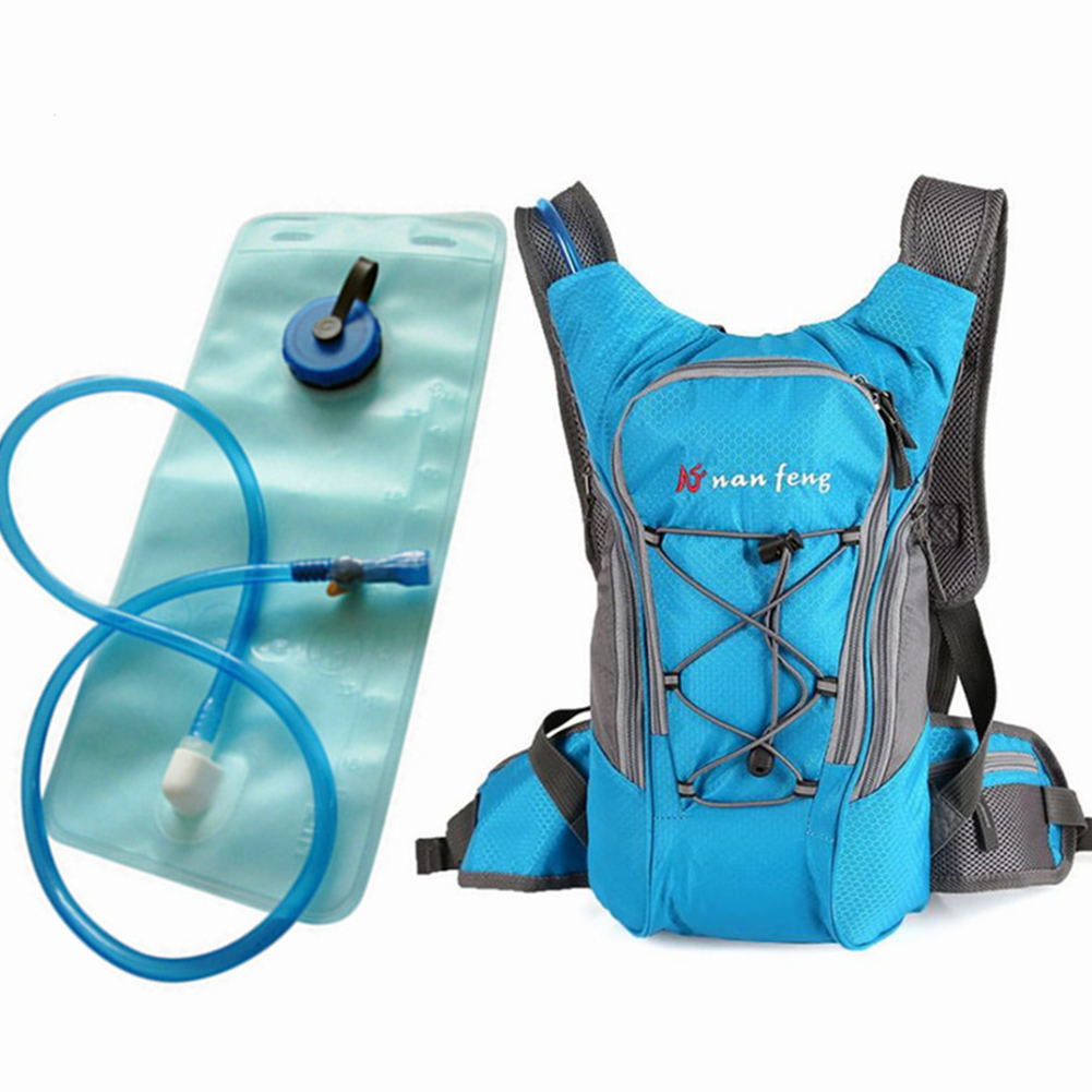 Riding Water Bag Backpack Bicycle 5L Sports Outdoor Riding Bag Cilmbing Travel Shoulders Bag 2 liter water bag + backpack blue
