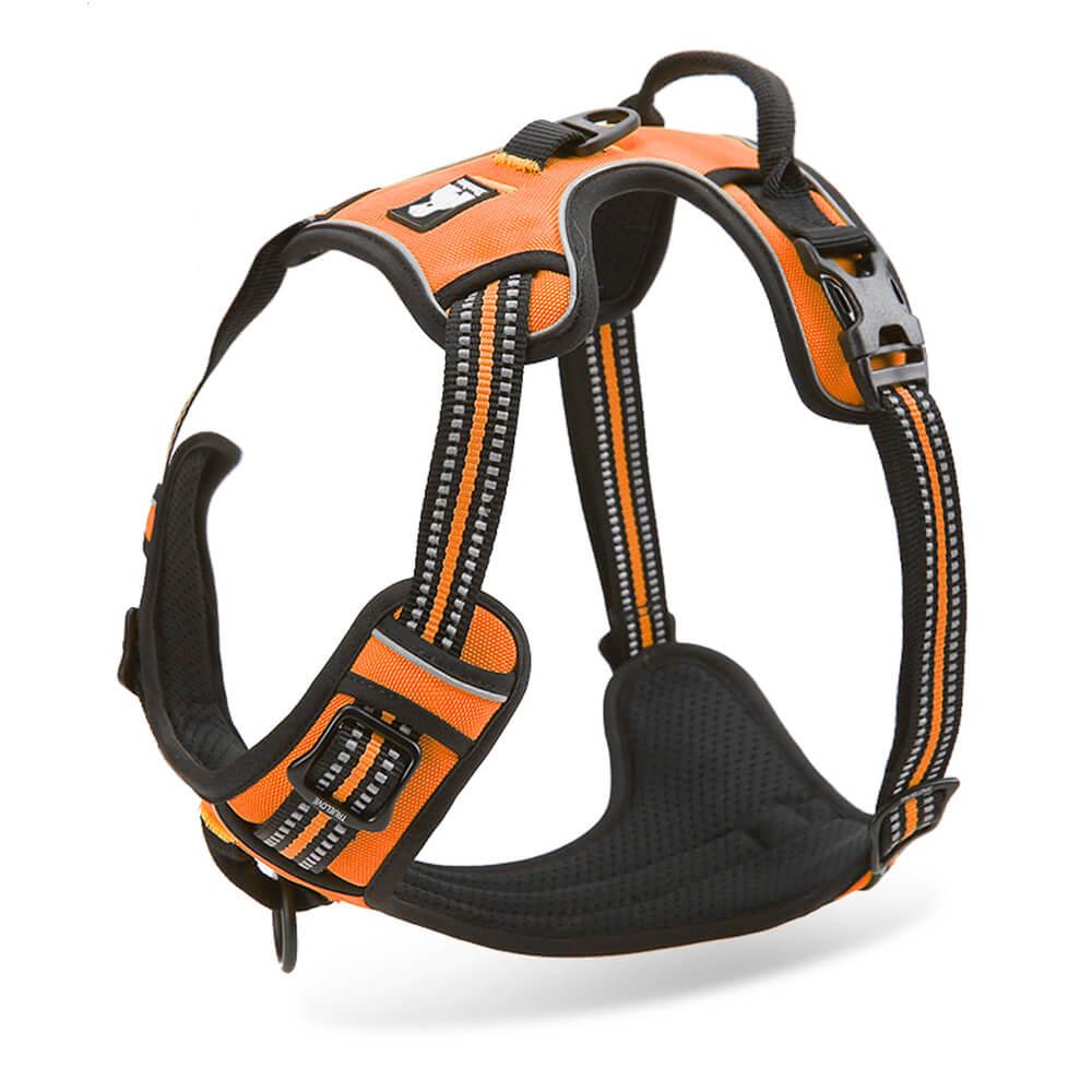 [US Direct] Original Truelove Reflective Dog Harness, Adjustable Pet Vest, Comfortable and Soft Mesh Materials (S, Orange) Orange_S