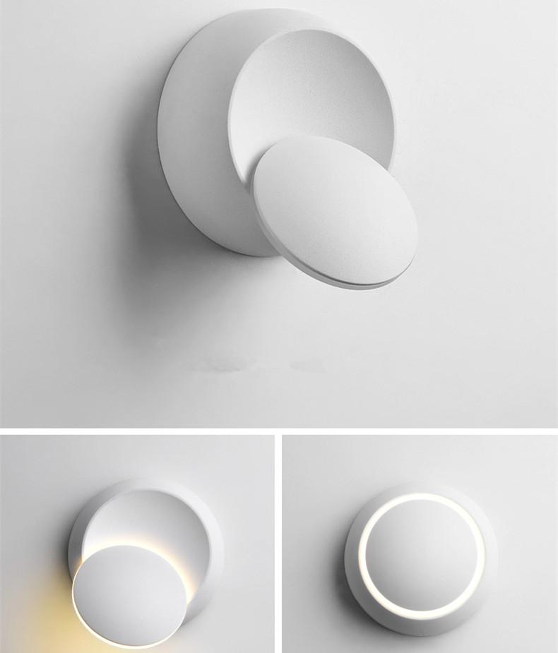 6W LED 360 Degree Rotation Round Shape Waterproof Wall Light Warm white light