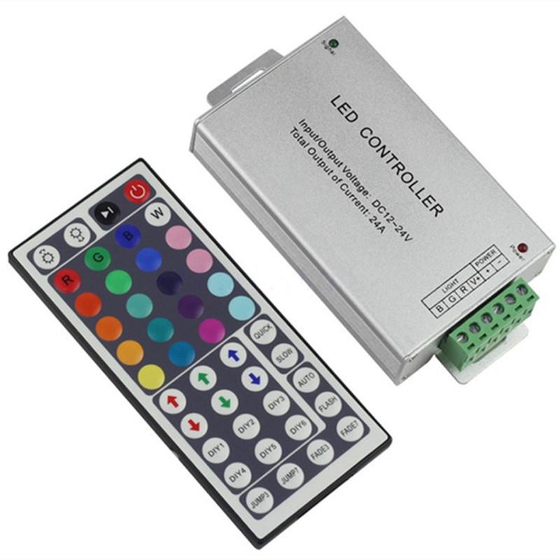 [EU Direct] 12V-24V DC 20A 240W 44Key IR Remote Controller for RGB LED Strip 5050 3528 SMD