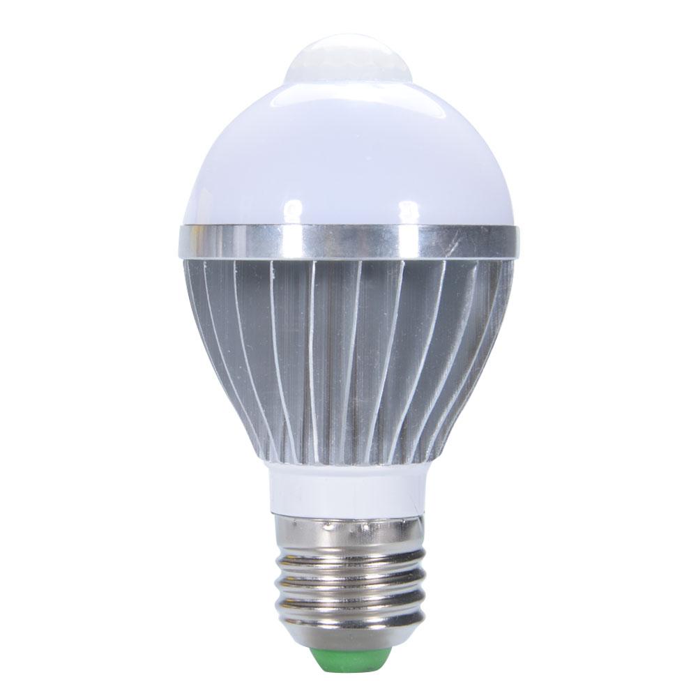 [EU Direct] E27 Based 5W AC 85-265V PIR Infrared Motion Detection Sensor Light Sensor LED Bulb Auto Switch Energy Saving Night Lamp Indoor Lighting Pure White