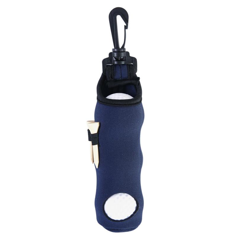 Portable Golf Small Waist Packing Bag 3 Balls + 3 Tee Small Accessory Bag  Dark blue