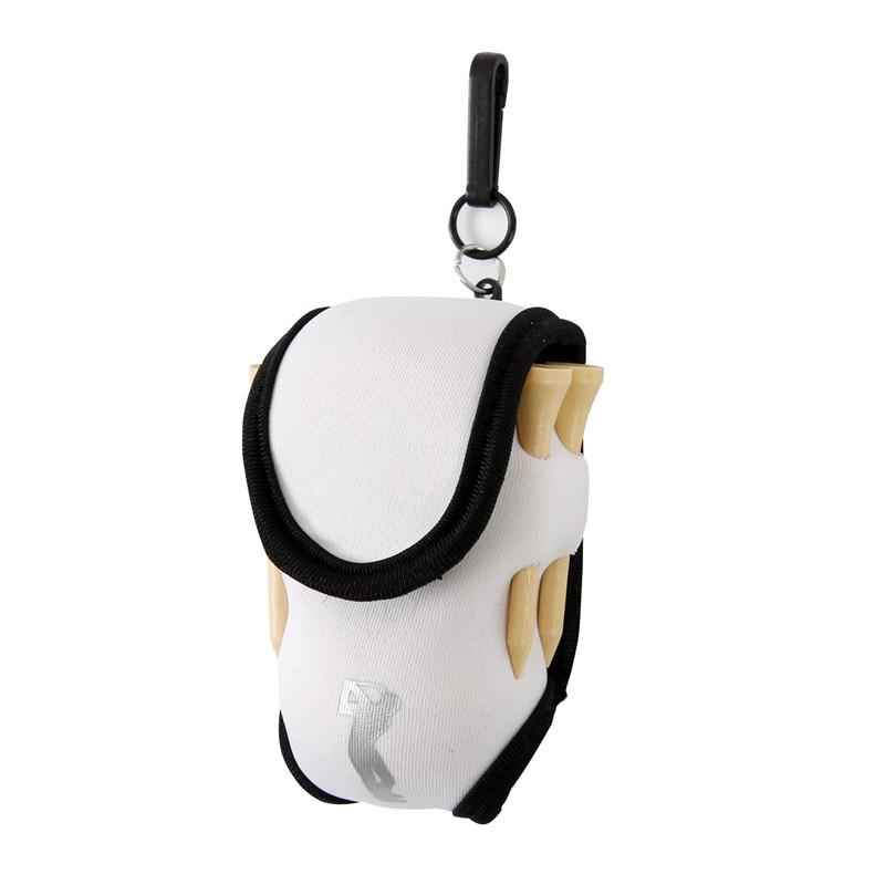 Golf Ball Waist Packing Bag 2 Balls + 4 Tee Mini Portable Accessory Bag  white