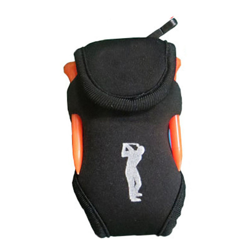 Golf Ball Waist Packing Bag 2 Balls + 4 Tee Mini Portable Accessory Bag  black