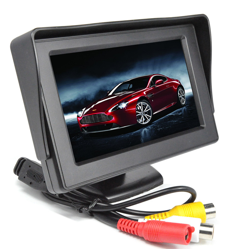 Rearview Camera Kit - 4.3 Inch Display, 2 Cameras, Waterproof, Nightvision