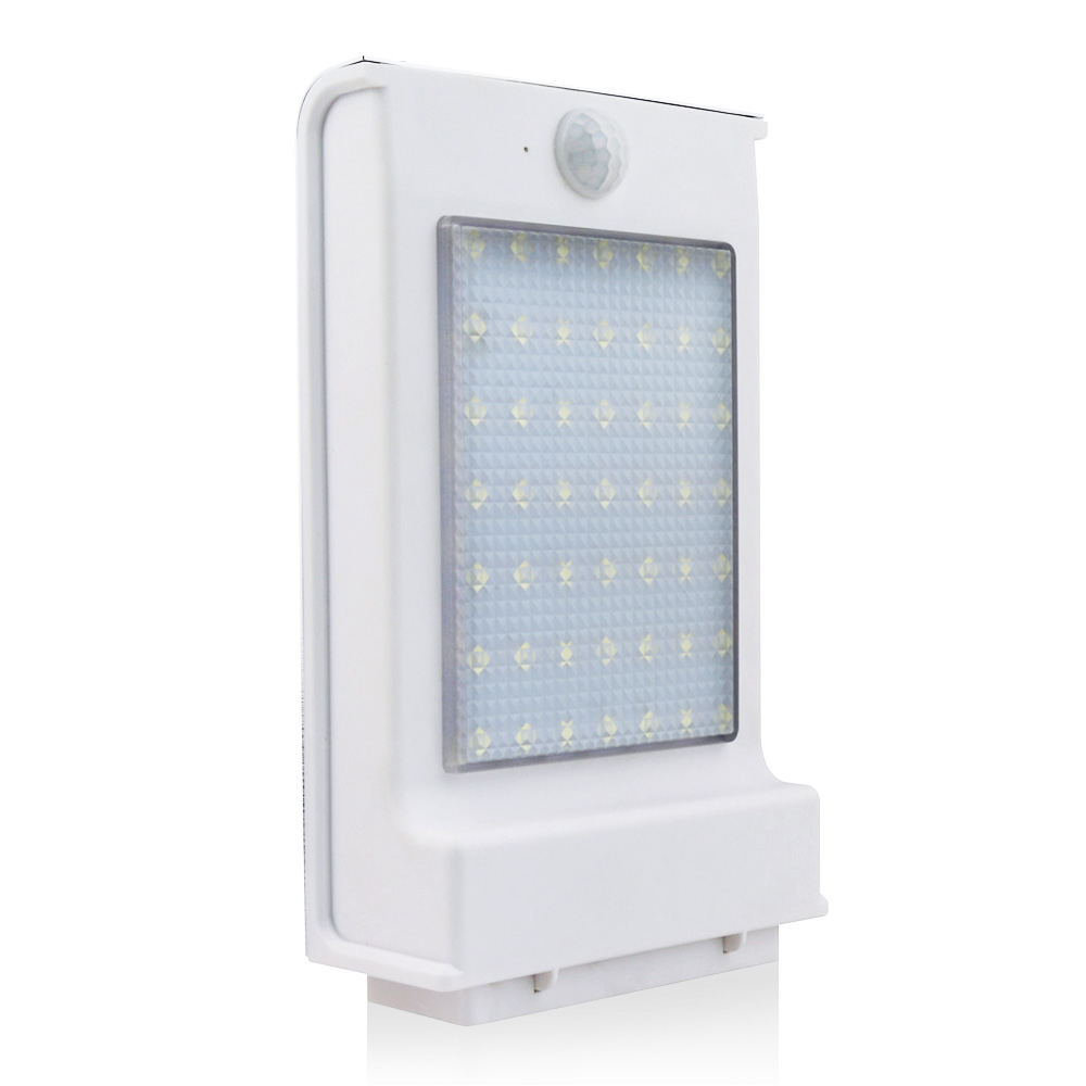 Solar Lights 1 Pack 49 LEDs Security Motion Sensor Wall Lightfor Yard Fence Garden Patio Roof Stair
