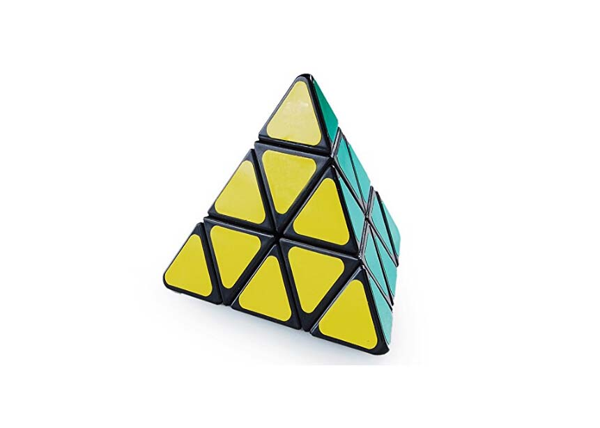 [US Direct] LanLan Pyraminx Sticker Puzzle Cube