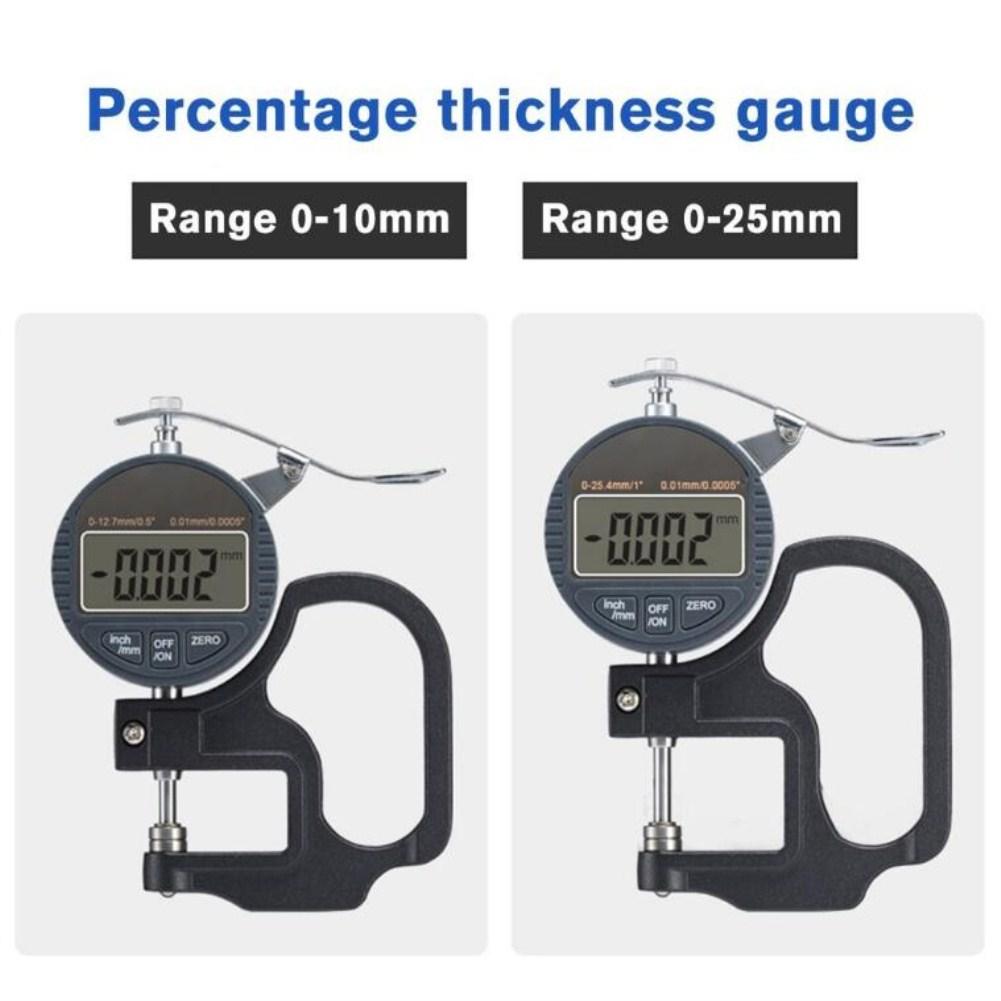 Stainless Steel Digital Display Thickness Gauge Flat Head Thickness Gauge Percentage Micrometer