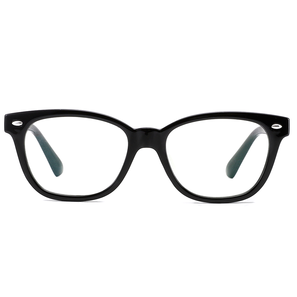 [US Direct] Cyxus Anti Blue Light Computer Glasses for Blocking UV Eye Strain Headache, Reading Eyewear (8065T01, Bright Black) Block Droplets Black_M
