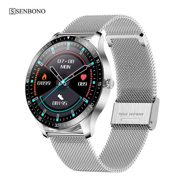 S80 Smart  Watch 1.28 Inch 240*240 Resolution Ratio 200mah Health Sports Watch Silver steel