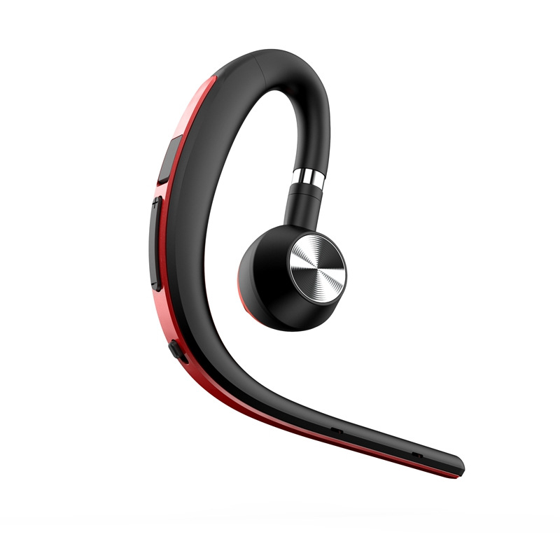 BT1200 Sports Business Bluetooth Headset S8 Wireless Hanging Ear Type In-ear Driving Long Standby Voice Control Report red