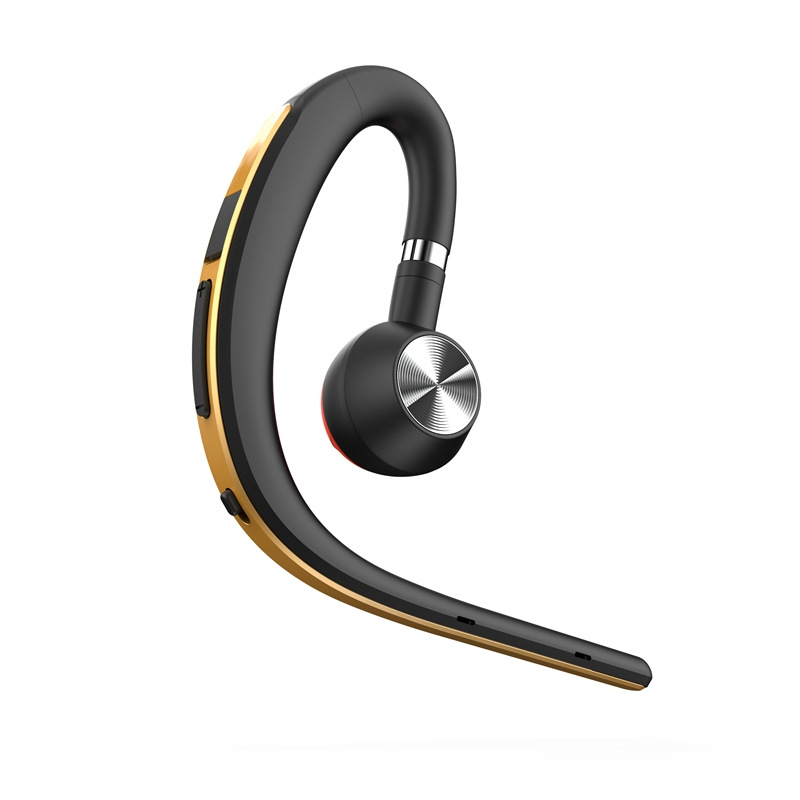BT1200 Sports Business Bluetooth Headset S8 Wireless Hanging Ear Type In-ear Driving Long Standby Voice Control Report Gold