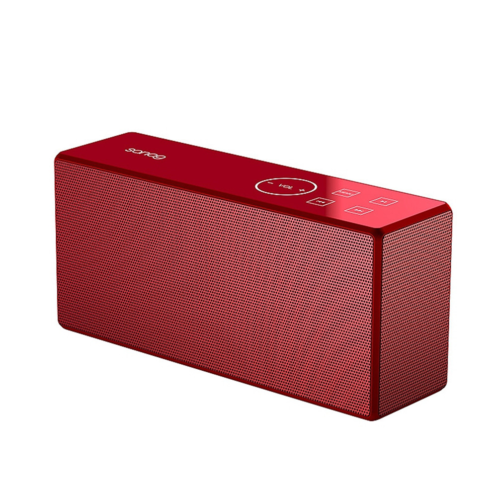 Portable Mini Wireless Bluetooth Bass Stereo Sports Bike Shockproof Subwoofer Outdoor Speaker red
