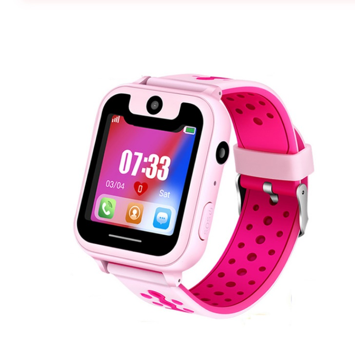 S6 Children's Smart Watch LBS Phone GPS Watch SOS Emergency Call Position Locator Outdoor Tracker Baby Anti-lost Monitor Pink LBS version