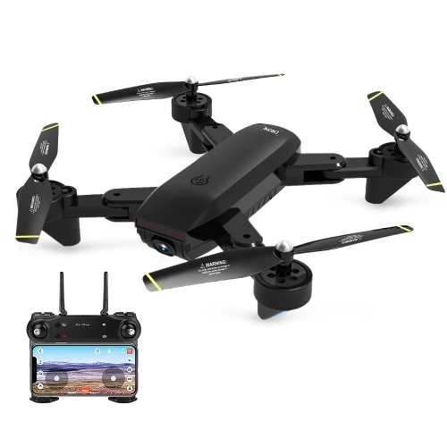 DM107S Dual Cameras Foldable RC Drone High-speed Support VR UAV RTF 2.0MP Wide-angle Camera 2 battery