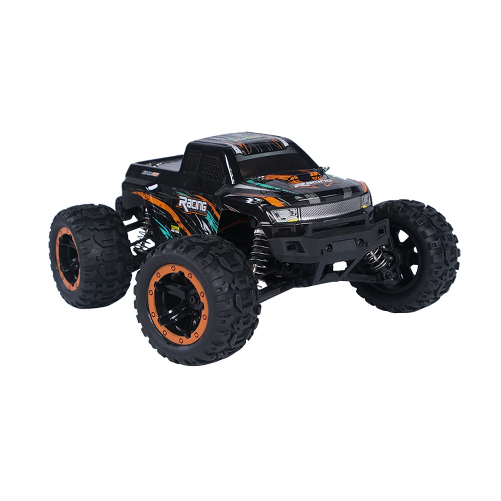 HBX 16889 1/16 2.4G 4WD 45km/h Brushless RC Car with LED Light Electric Off-Road Truck RTR Model VS 9125 Orange_Single battery
