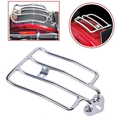 Motorcycle Rear Baggage Holder  Luggage Rack Solo Seat Fits Luggage Rack Support Shelf  plating