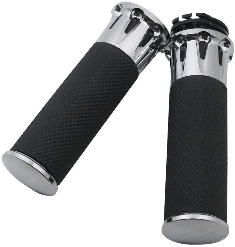 Motorcycle Handlebar 1inch 25mm Handle Bar Handle Grips silver