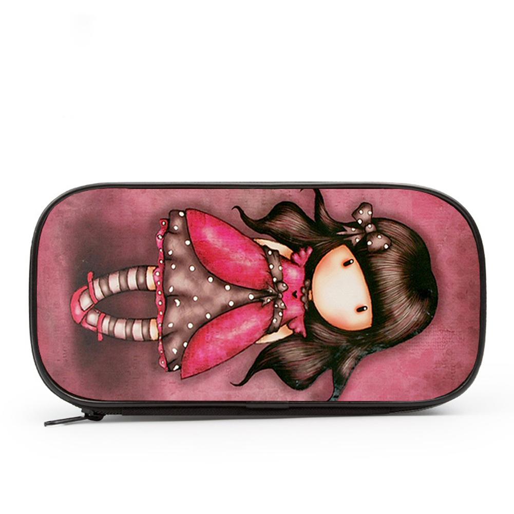 Cute Cartoon Printed Pencil Case Zipper Pen Bag Makeup Pouch for Students 04