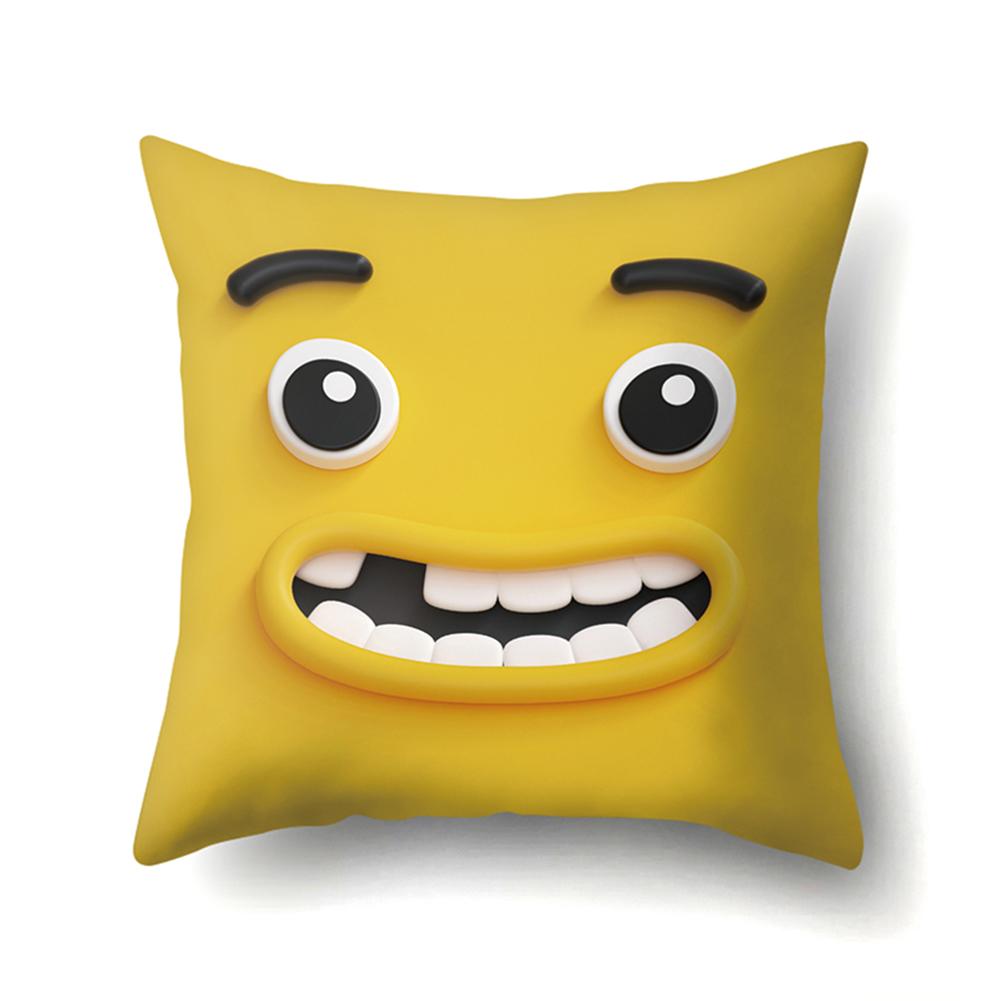 Cute Emoji Pattern Cushion Cover Pillow Case for Car Home Sofa Decor 45*45cm CCA426(3)