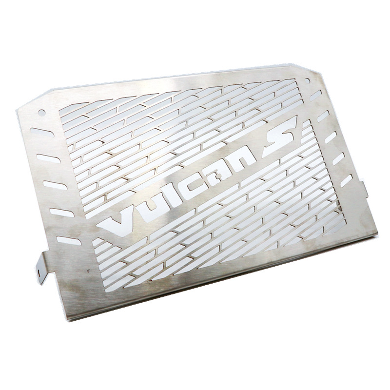 For Kawasaki VULCANS 2015 2016 Vulcan Motorcycle Radiator Grill Grille Guard Protective Cover silver