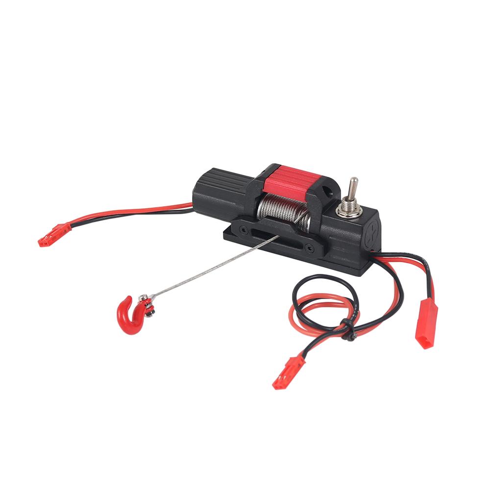 Plastic Mini Electric Winch for 1/10 RC Rock Crawler Traxxas TRX4 Axial SCX10 90046 D90 D110 Tamiya CC01 black