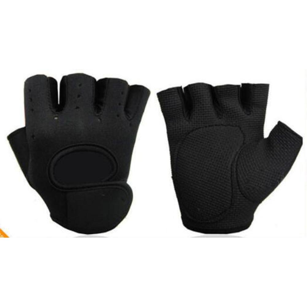 Gym Half Finger Sports Fitness Exercise Training Wrist Gloves Anti-slip Resistance Weightlifting Gloves black_L
