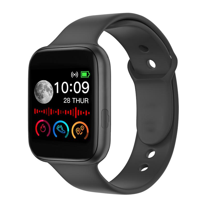 Smart Watch Men Women Fitness Sport Heart Rate Monitor Smart Watch Clock Smartwatch Android for Bluetooth Gun black