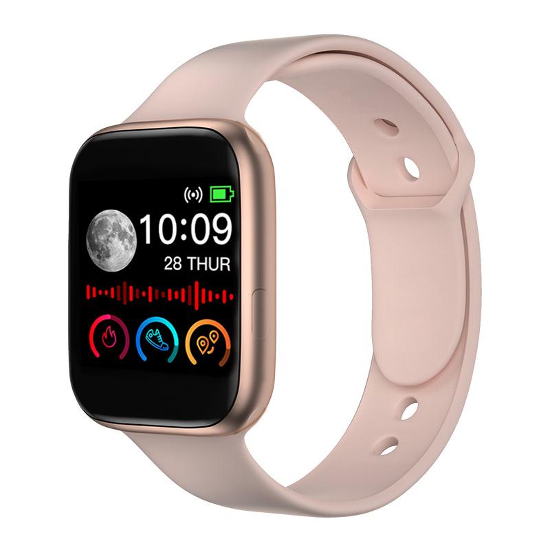 Smart Watch Men Women Fitness Sport Heart Rate Monitor Smart Watch Clock Smartwatch Android for Bluetooth Rose gold