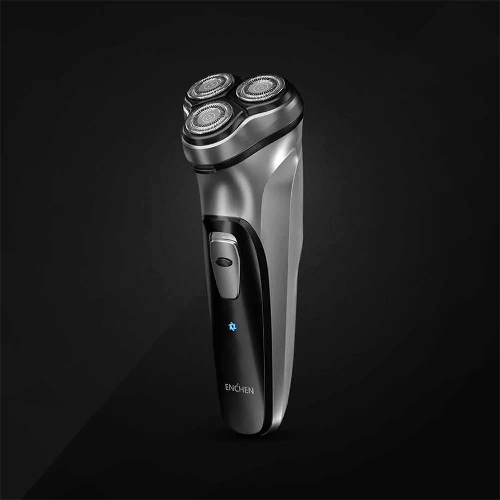 Men Black 3D Electronic Razor Beard Washable C-type Rechargeable Shaver Beard Clipper Gift black