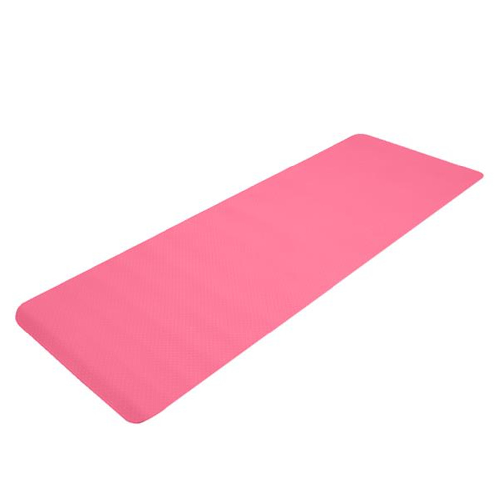 [US Direct] Tpe Yoga  Mat 183*61*6cm Non-slip Gym Pad For Yoga Training Fitness Excercise Pink