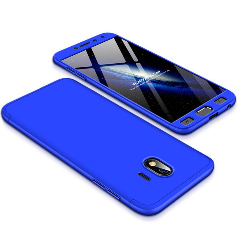 For Samsung J4 2018 Ultra Slim 360 Degree Non-slip Shockproof Full Protective Case blue