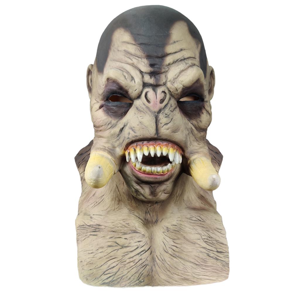 Halloween Mask Freak Horror Cosplay Performance Adult Headgear Stranger skin color