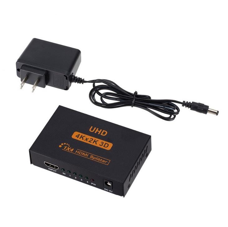 4K HDMI Splitter Full HD 1080p Video HDMI Switch Switcher 1X2 1X4 Dual Display For HDTV DVD PS3 Xbox U.S. plug